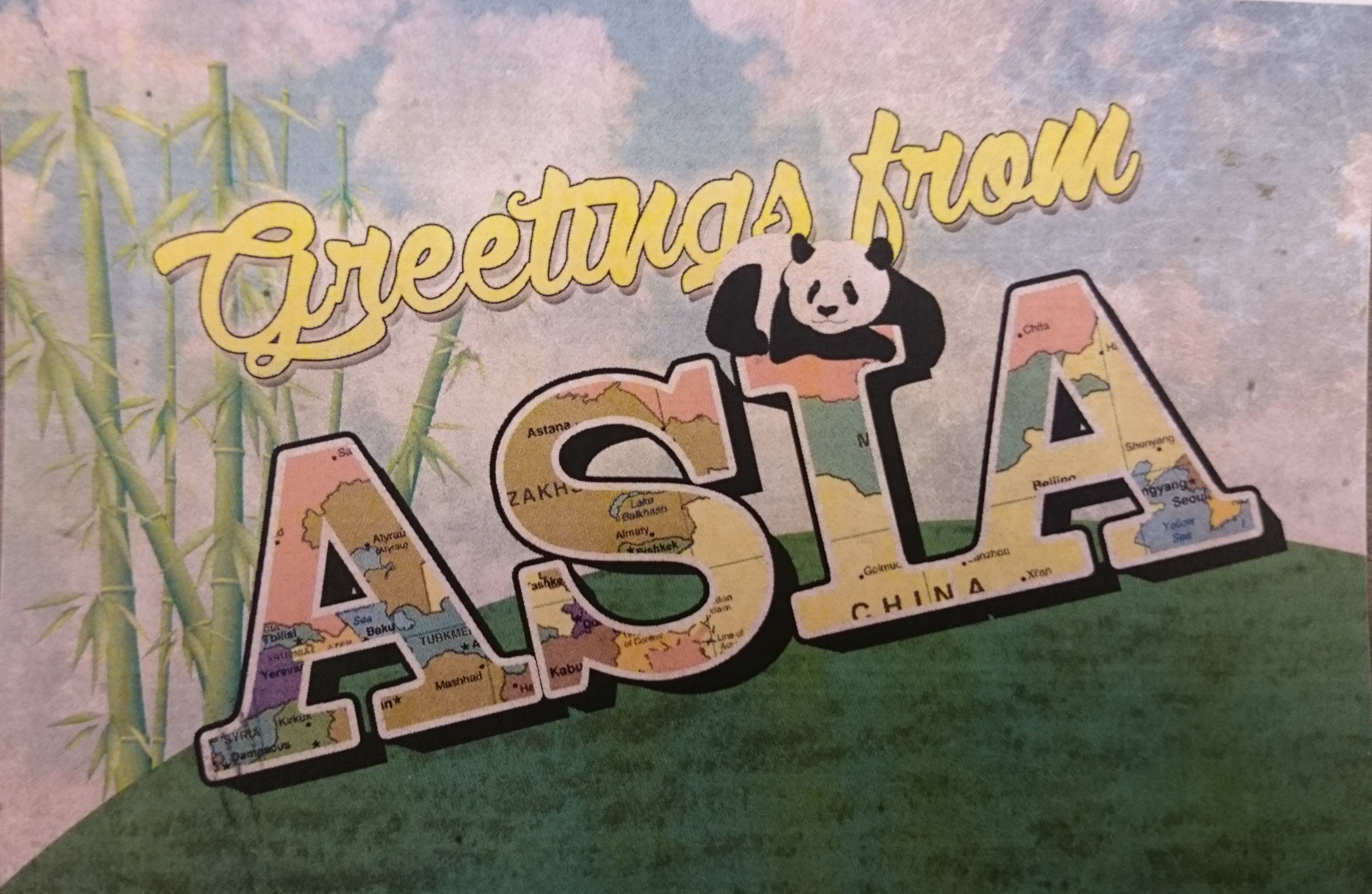 Greetings from Asia postcard