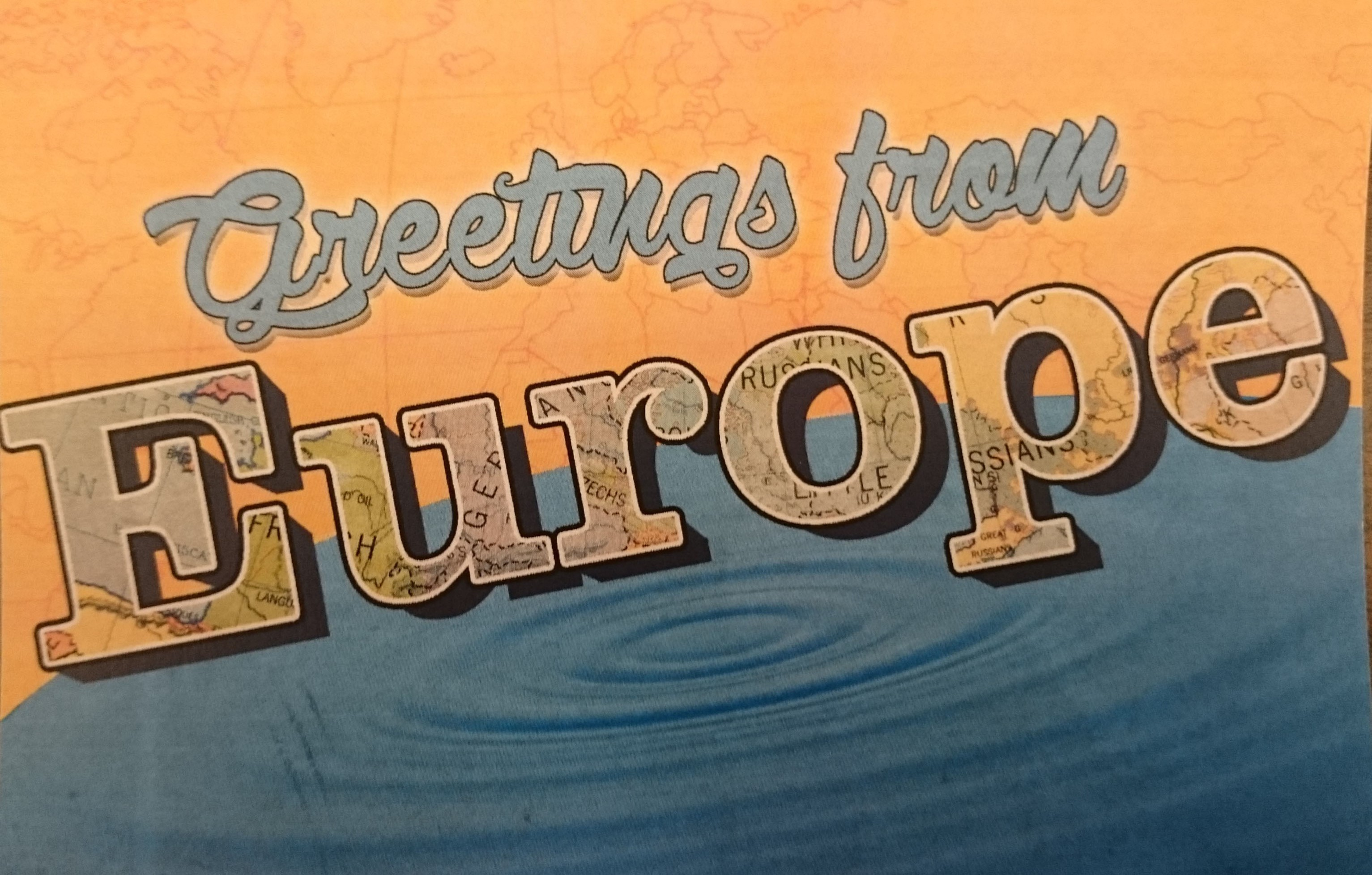 Greetings from Europe postcard