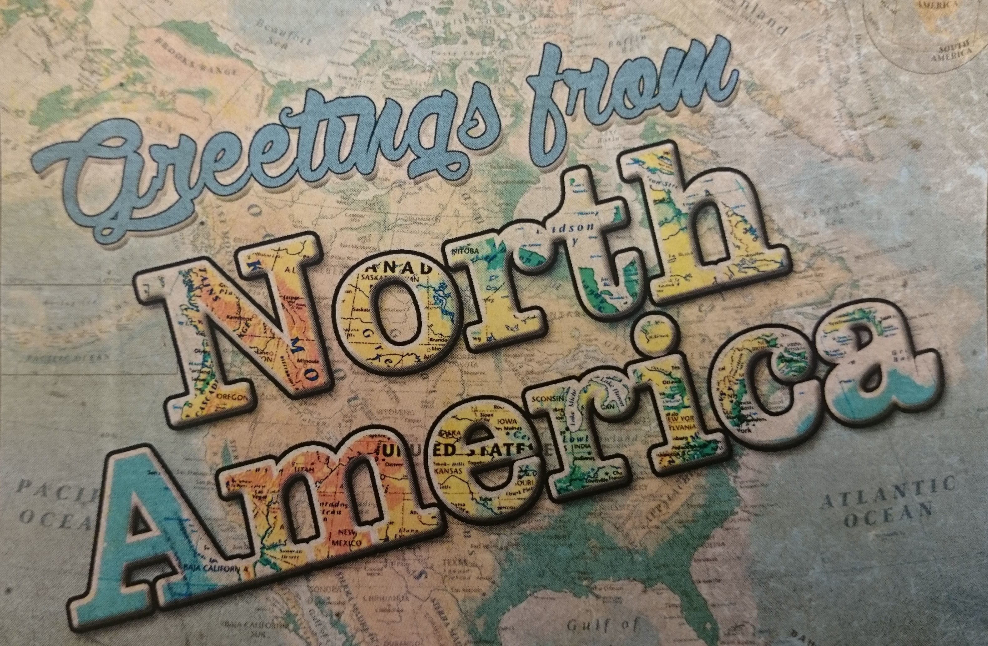Greetings from North America postcard