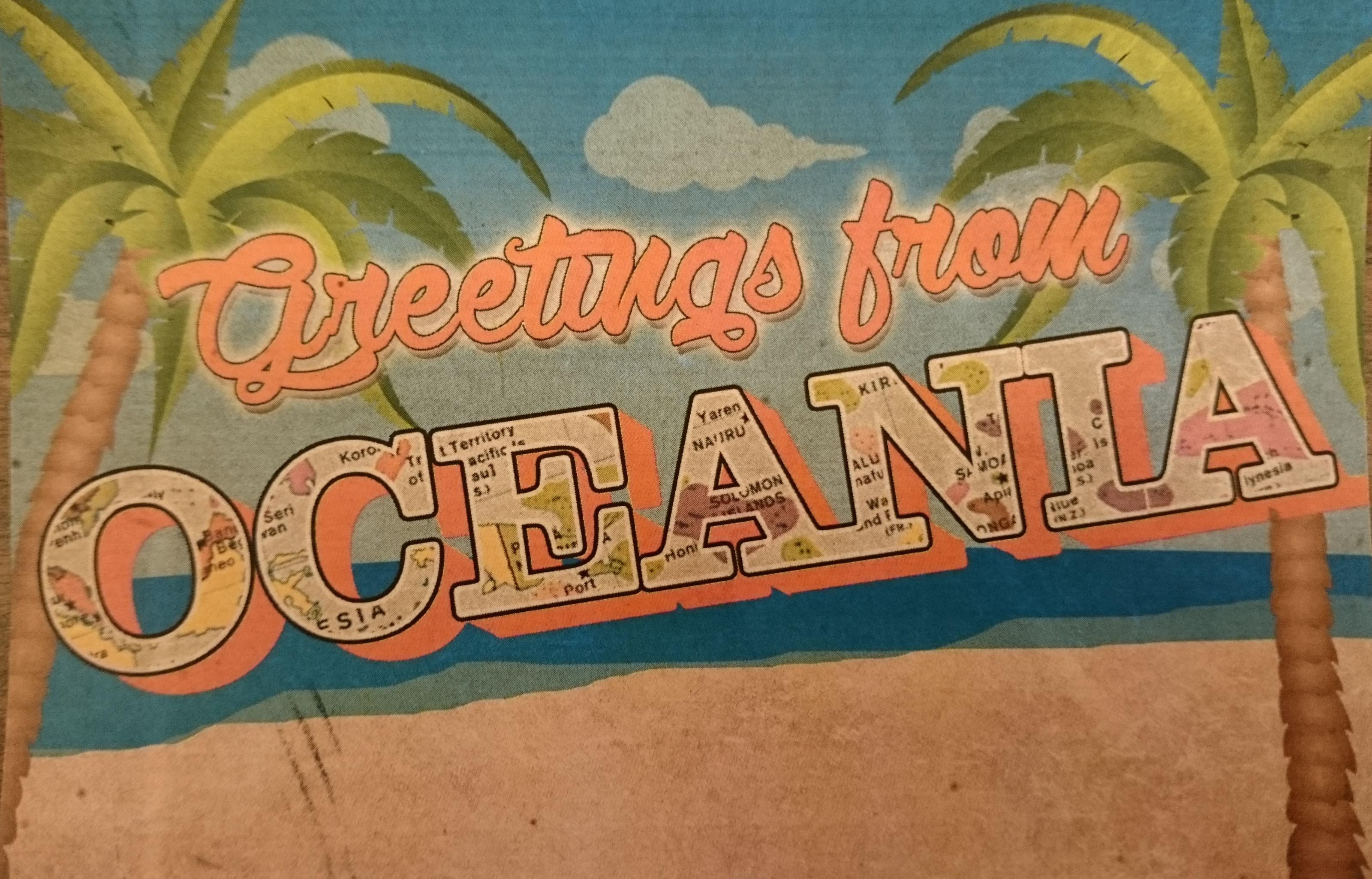 Greetings from Oceana postcard