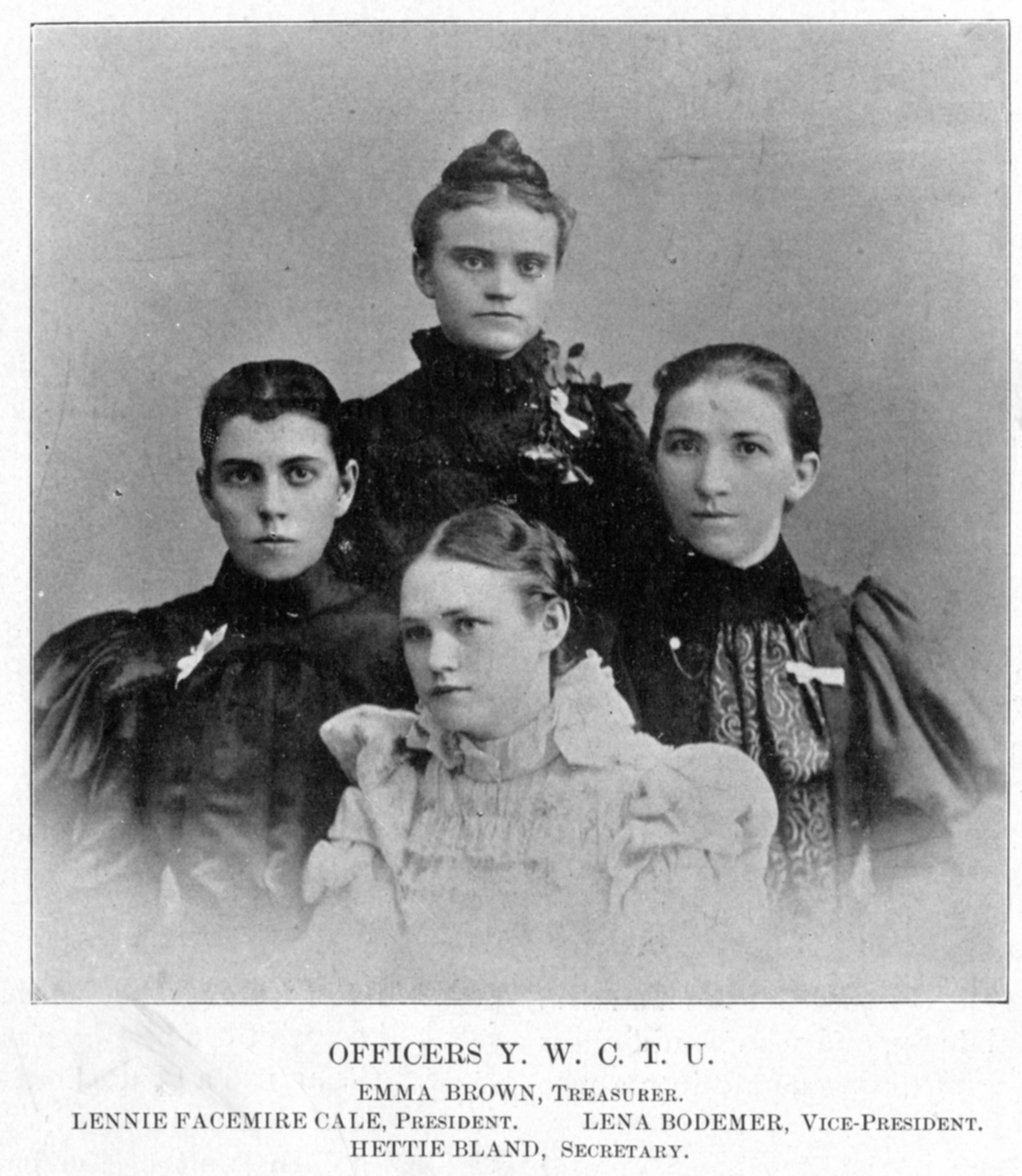 Officers of the Y.W.C.T.U (Young Women Christian Temperance Union)