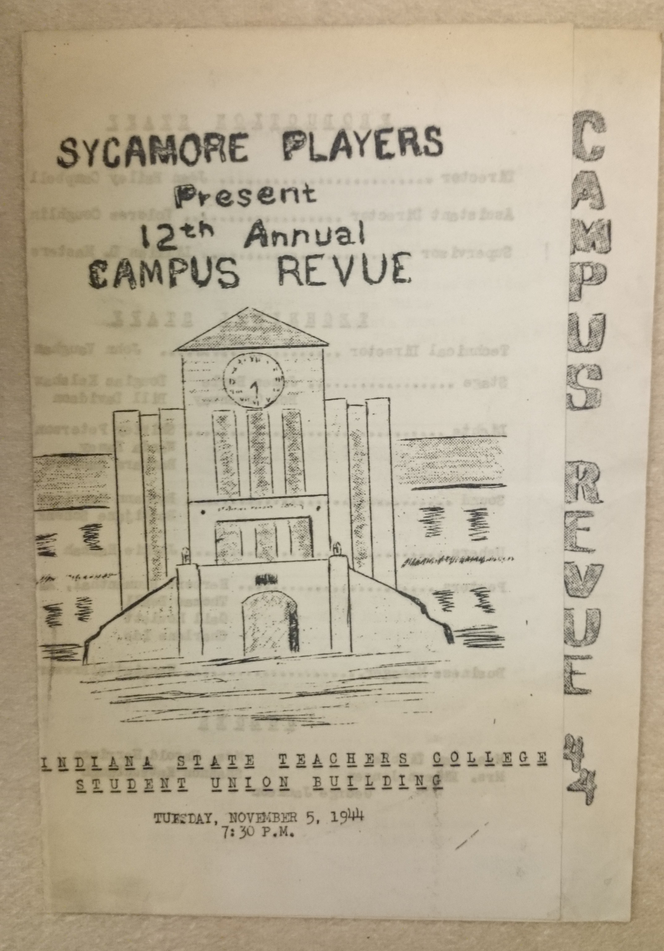 Sycamore Players Present 12th Annual Campus Revue