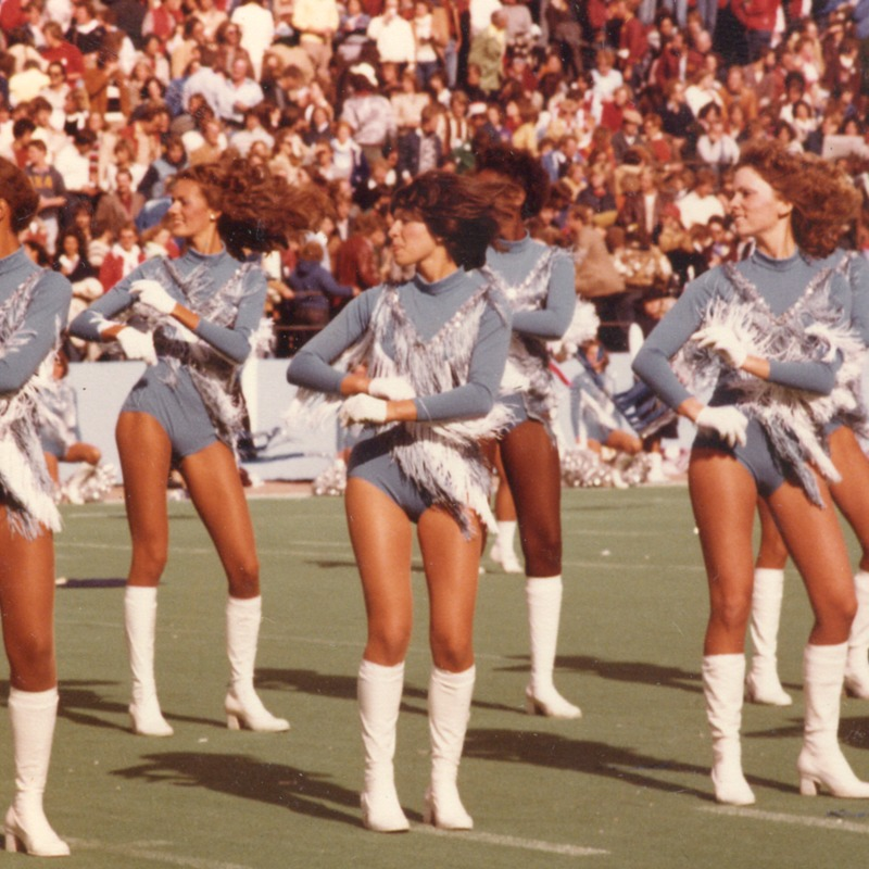 Sparkettes perform during football game, no date