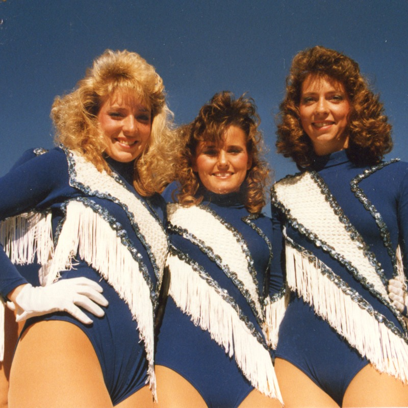 Three sparkettes pose, no date