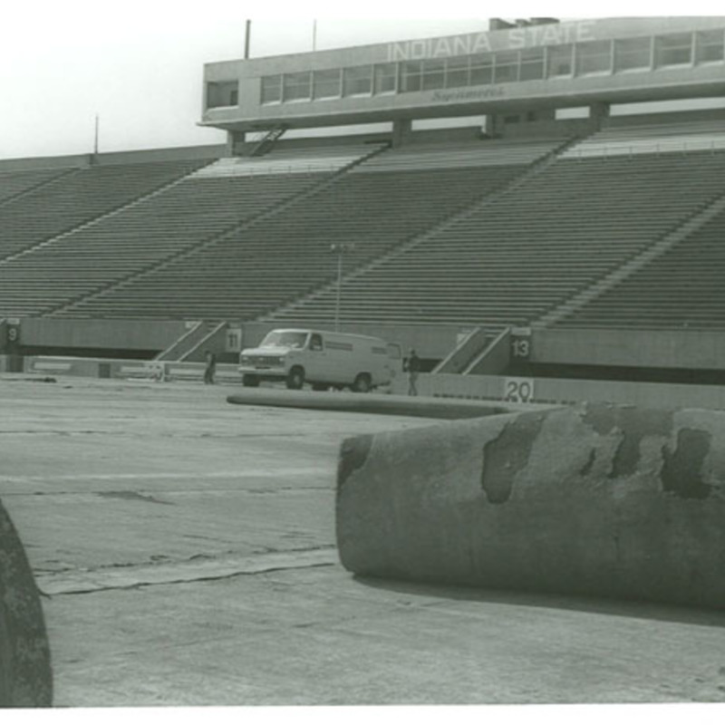 Memorial Stadium construction
