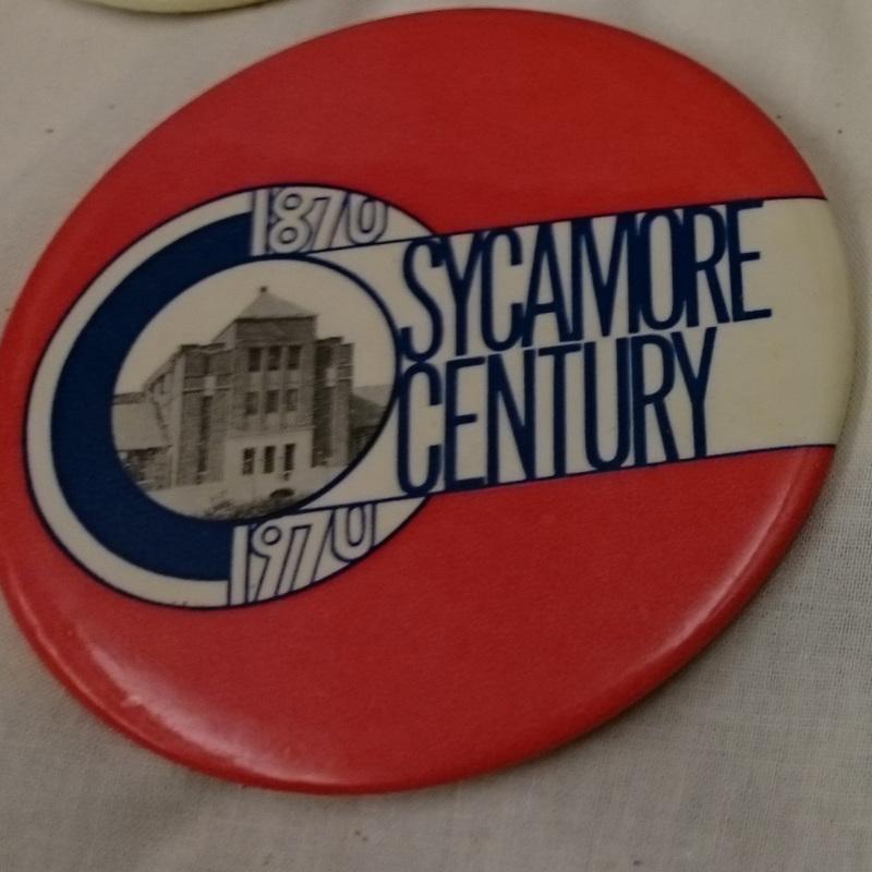 """Sycamore Century, 1870-1970"" button"