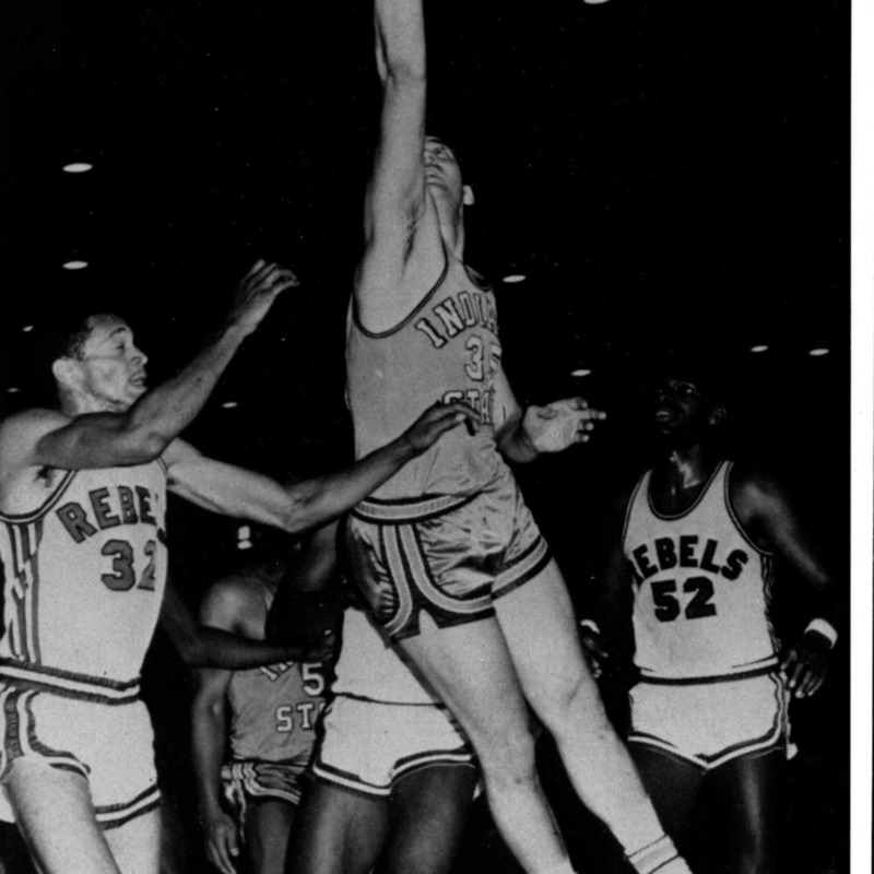 Basketball action shot