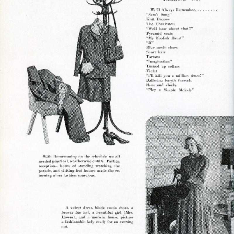 Fashion pages from Sycamore Yearbook