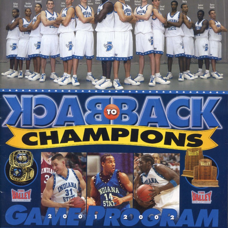 Indiana State University men's Basketball game program cover