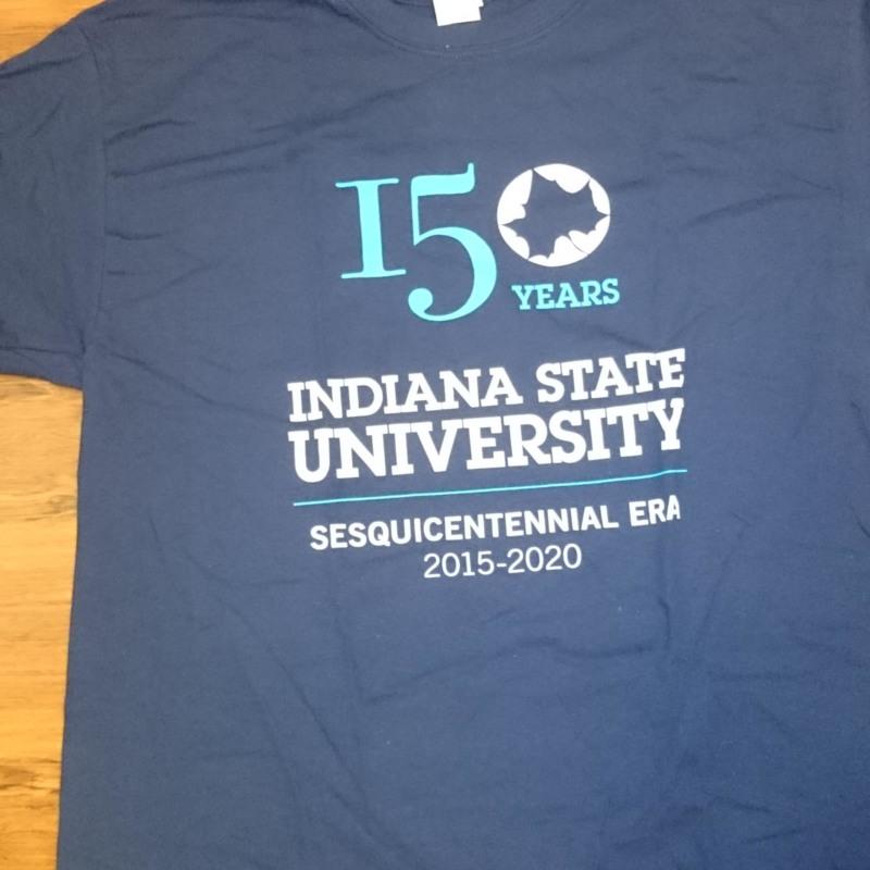150 Years Indiana State University Sesquicentennial Era 2015-2020 t-shirt