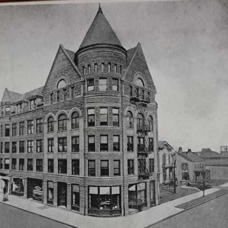 Rose Dispensary building