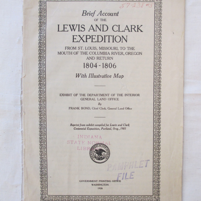 <em>Brief Account of the Lewis and Clark Expedition</em>