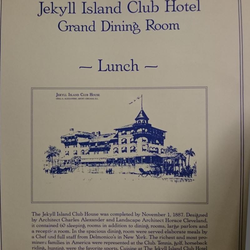 Jekyll Island Club Hotel Grand Dining Room menu