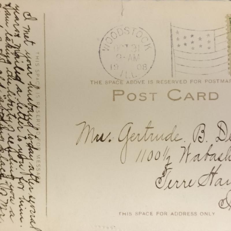 Postcard to Gertrude B. Debs