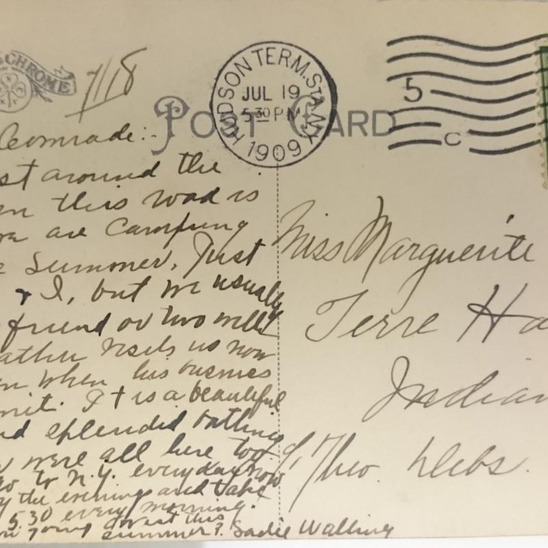 Postcard to Marguerite Debs Cooper