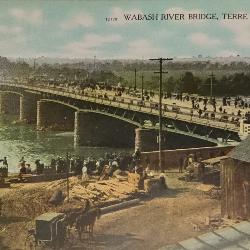 <em>Wabash River Bridge- Terre Haute, Ind.</em>