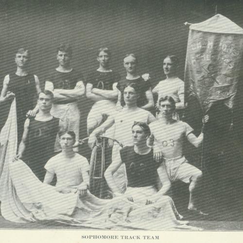 Sophomore men's track team, 1901