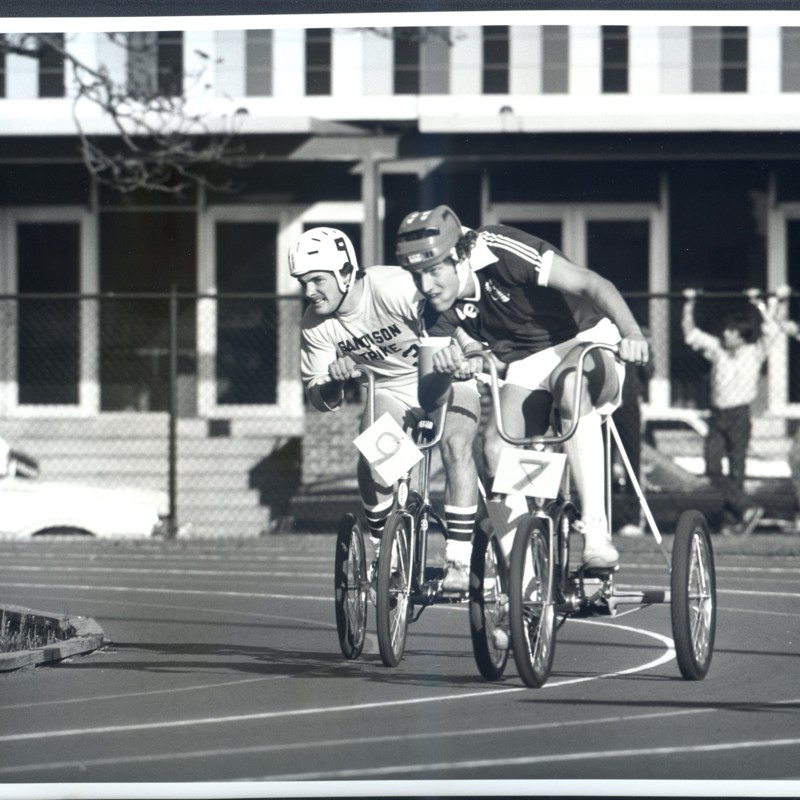[Homecoming Men's trike race]