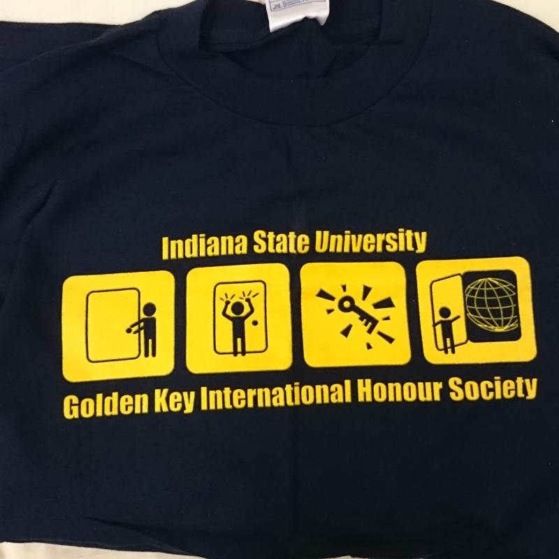 [Golden Key International Honour Society shirt]