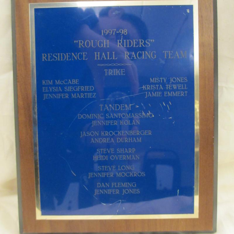 """<em>""""Rough Riders"""" Residence Hall Racing Team</em>"""