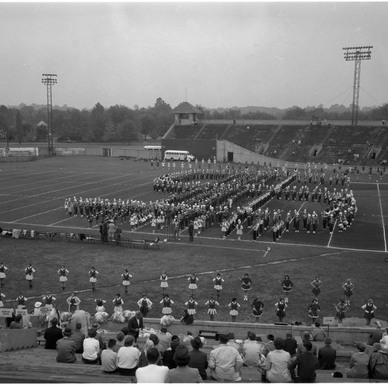 Marching Band performing at Homecoming