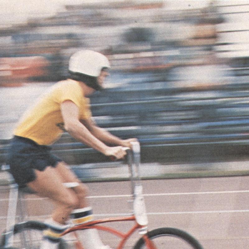Trike race action shot