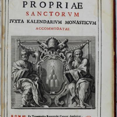 Rubrication, Missale Romanum title page