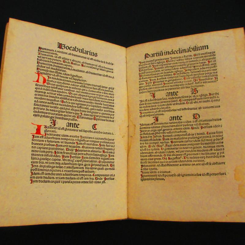 <i>Vocabularius de Partibus Indeclinabilibus</i>