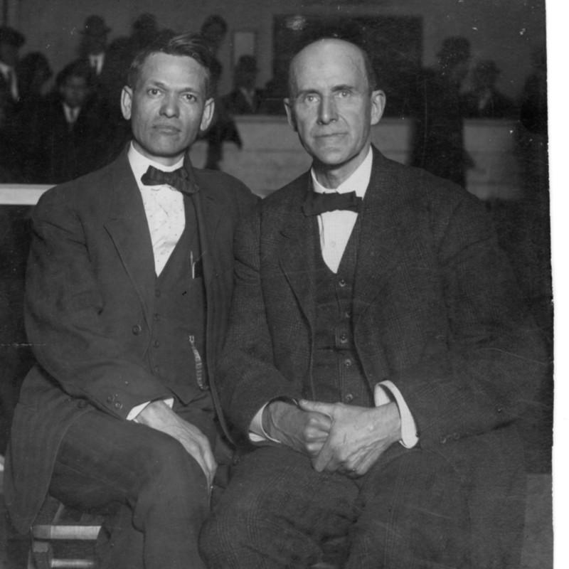 Eugene V. Debs and Fred D. Warren.  Photograph.