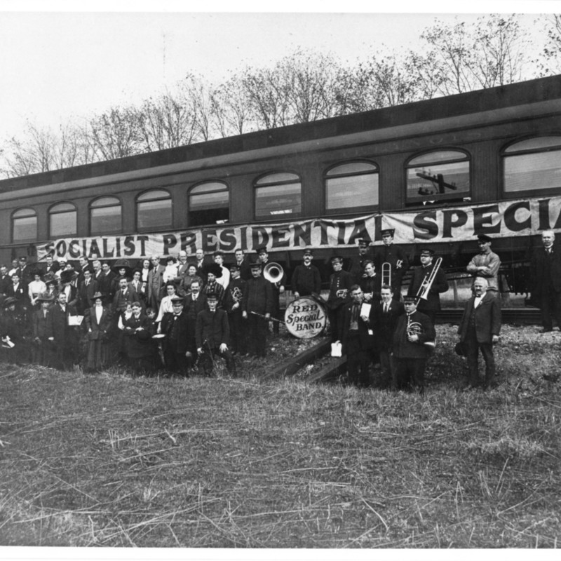 """The Red Special"" Train and Campaign.  Photograph."