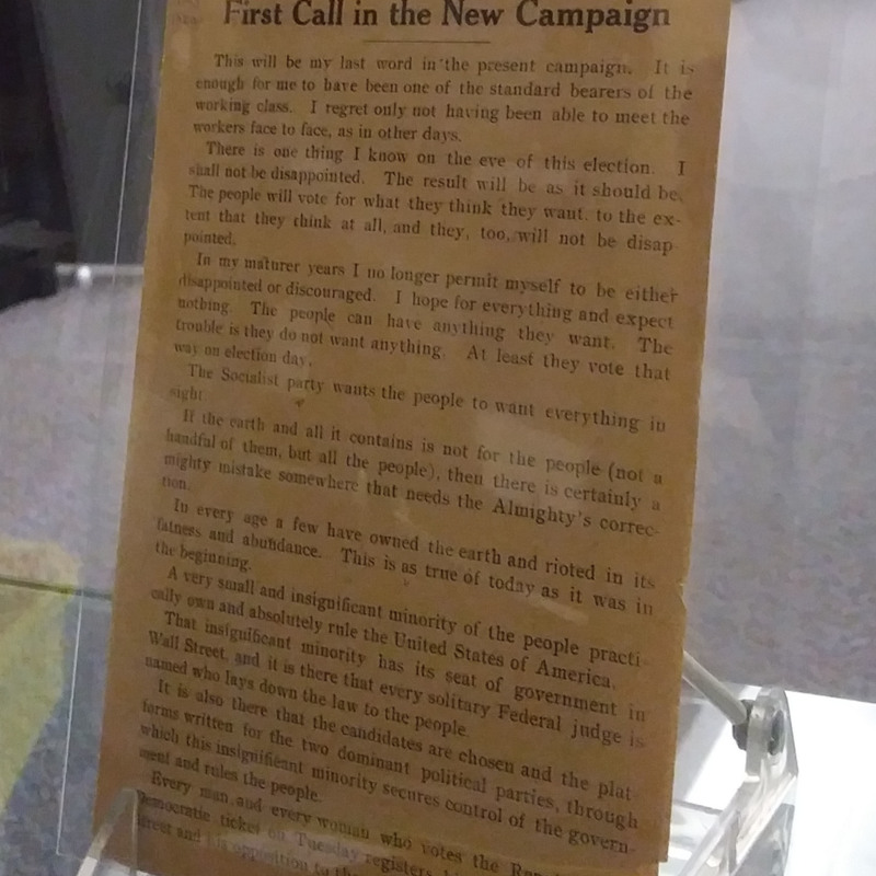 <p><i>Debs' Last Call to Voters in 1920 and His Frist Call in the New Campaign.</i></p>