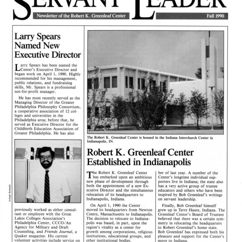 <i>The Servant Leader</i>.