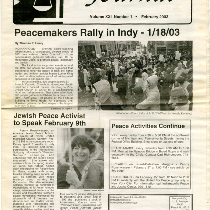 <i>Indianapolis Peace and Justice Journal.</i>