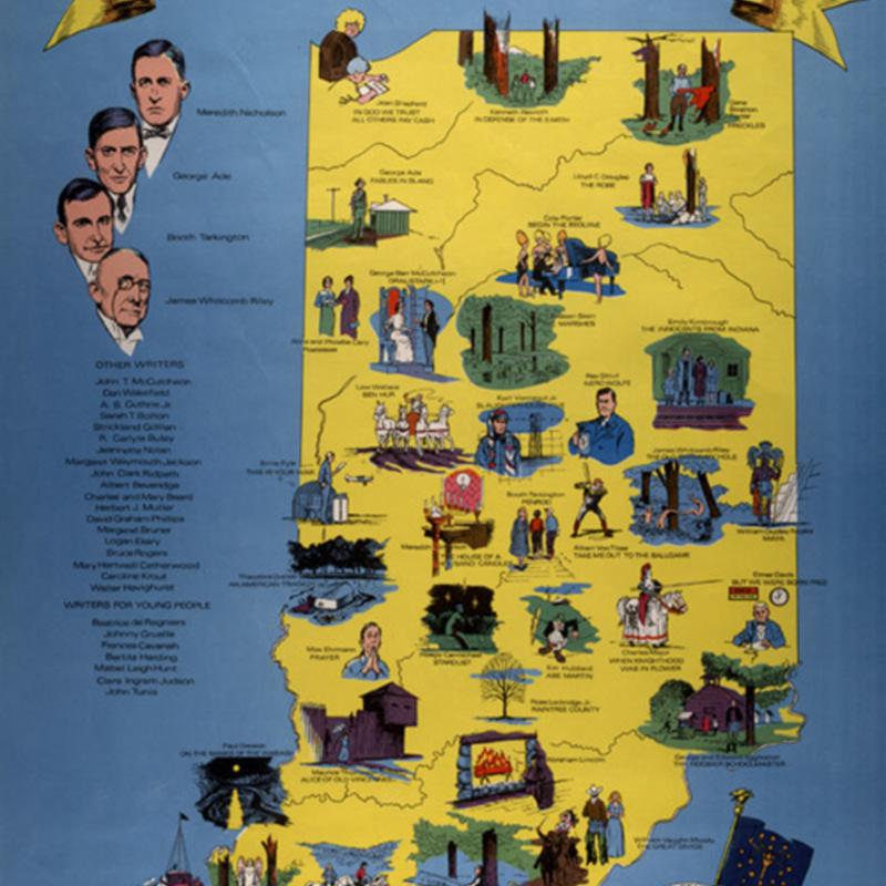 <em>A Literary Map of Indiana.</em>