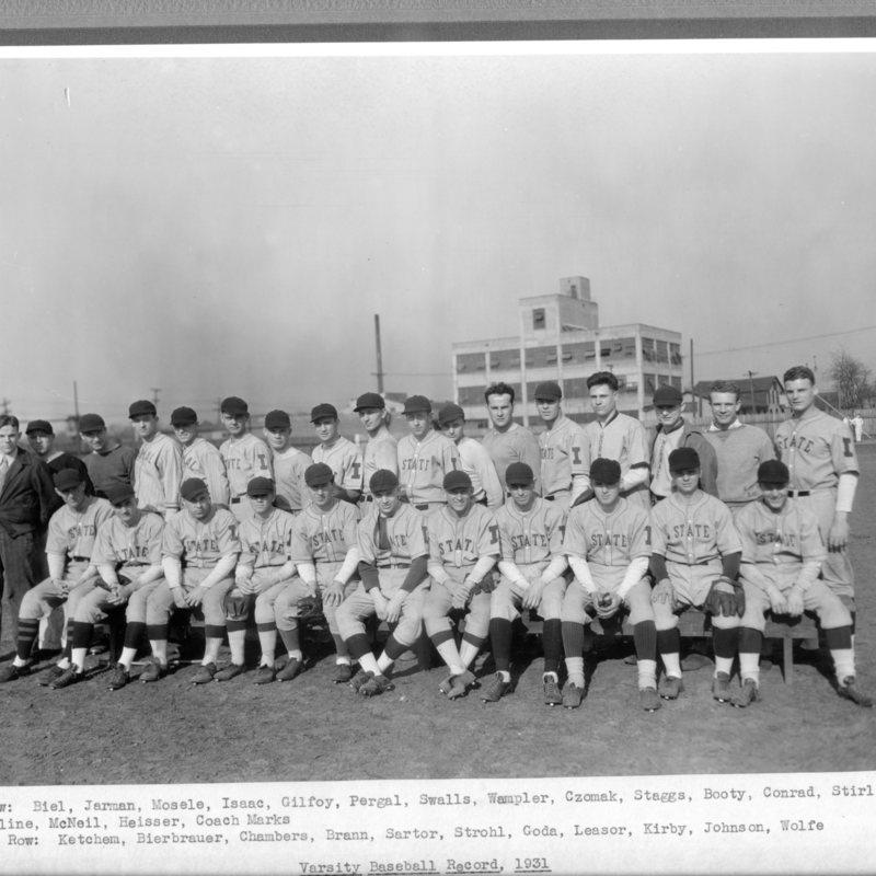 Varsity Baseball Team 1931