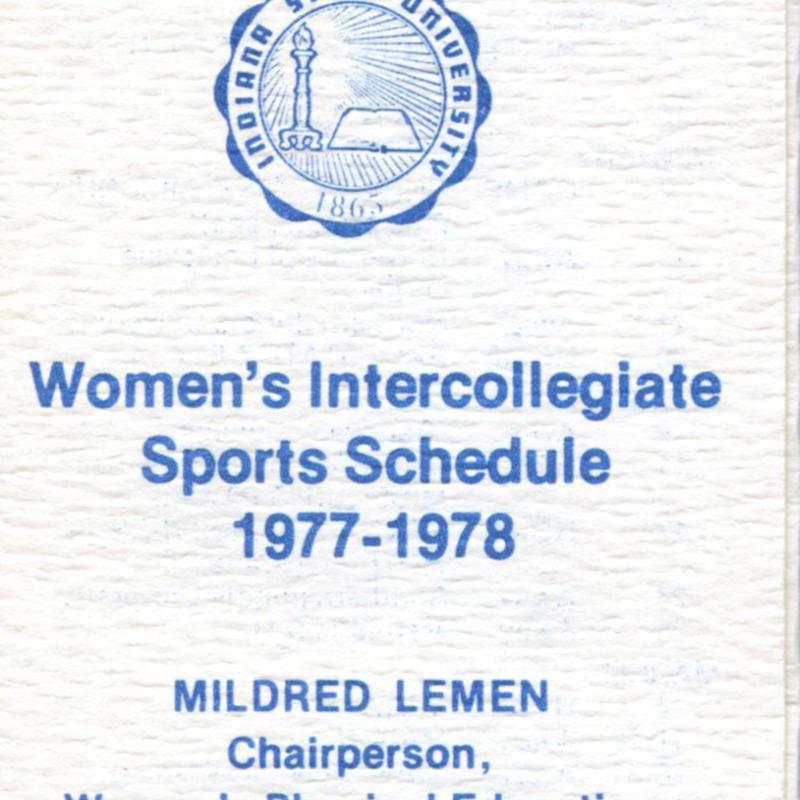 Women's Intercollegiate Sports Schedule