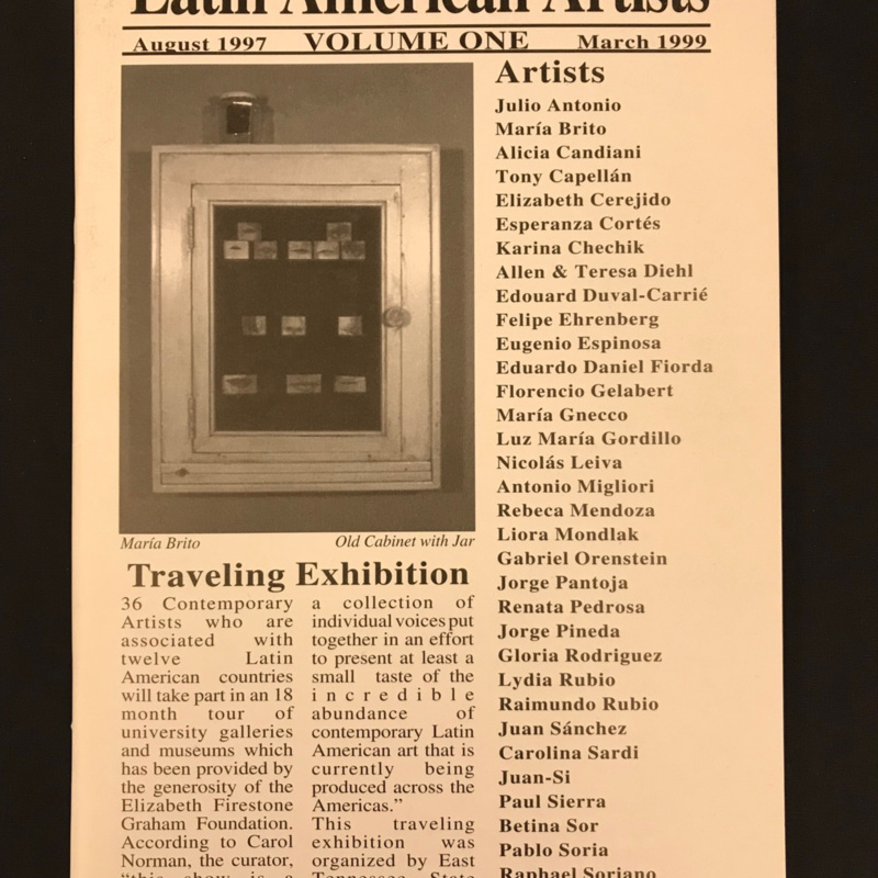 Latin American Artists Traveling Exhibition booklet, August 1997-March 1999
