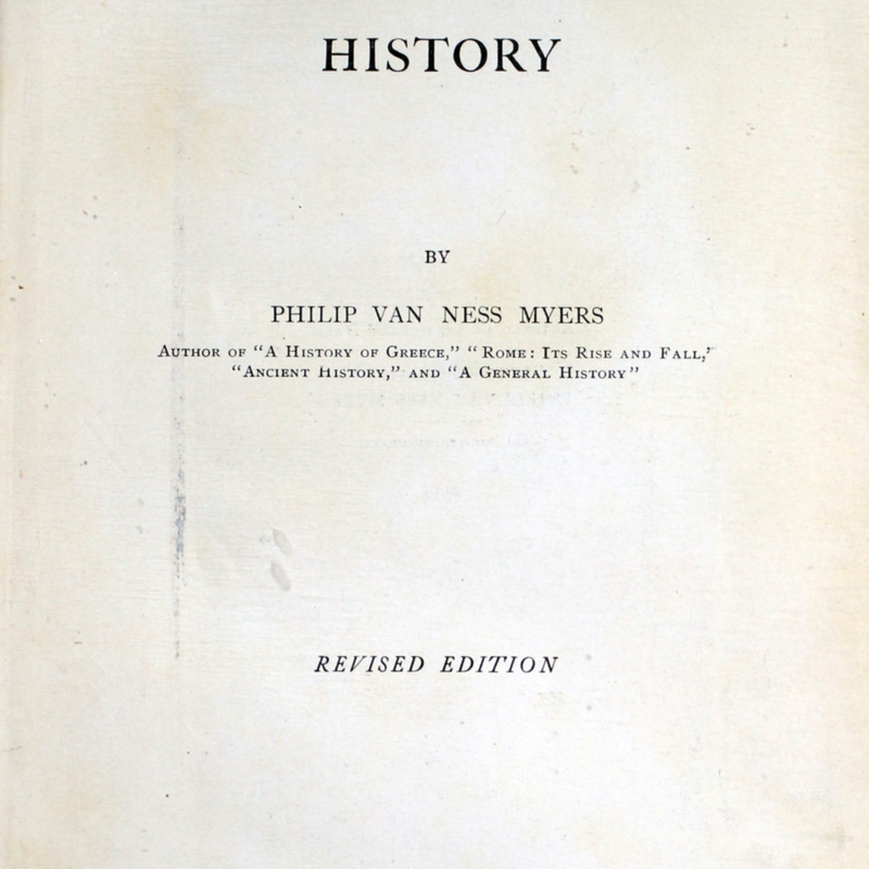MEDIAEVAL AND MODERN HISTORY -- TITLE PAGE