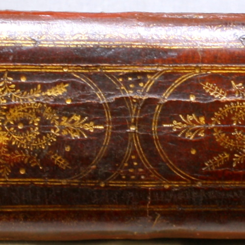 Spine, Gilt Red Leather
