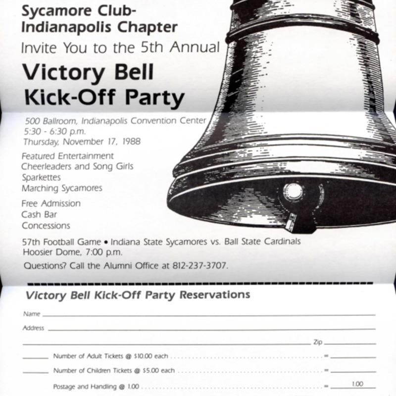 Victory Bell Kick-Off Party flier