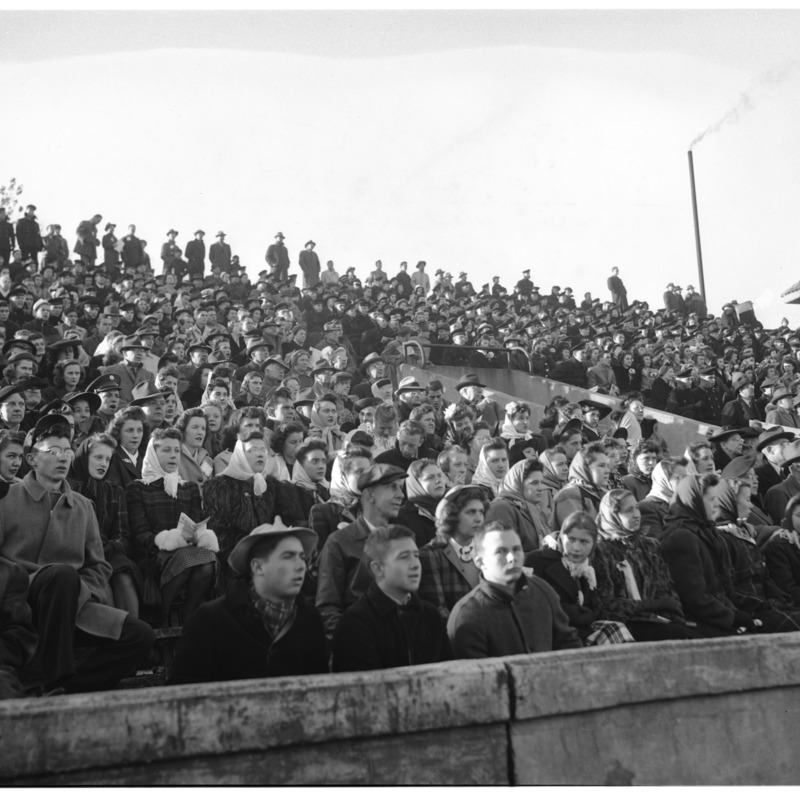 Spectators at Memorial Stadium