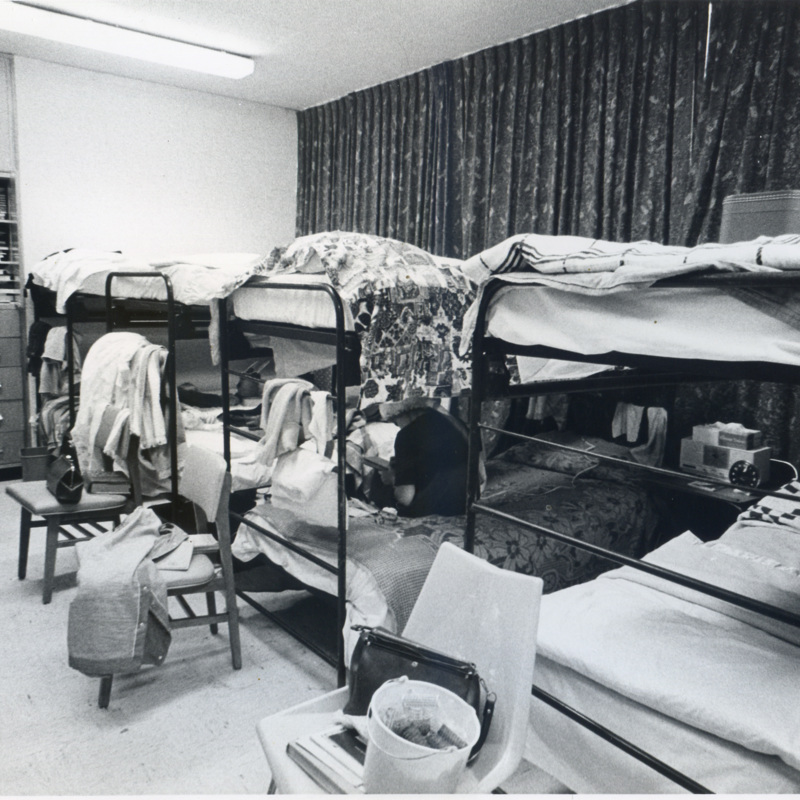 Overflowed Sycamore Towers dorm room