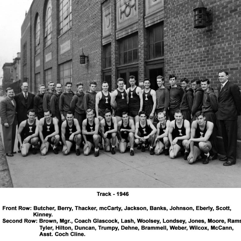 Men's track team, 1946