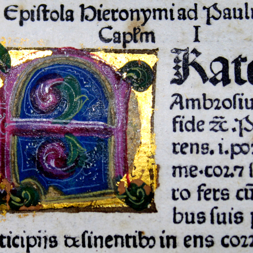 Color, illuminated and gilt letter