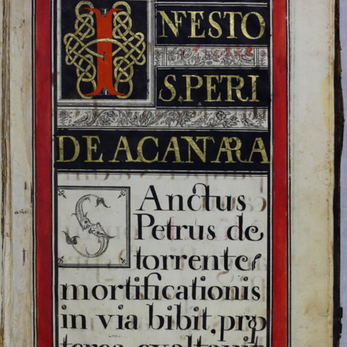 Color panel with black, red and gilt