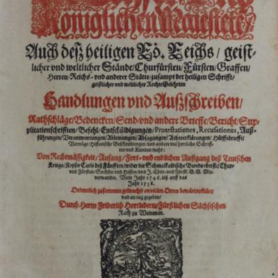 Rubrication, Hortleder title page